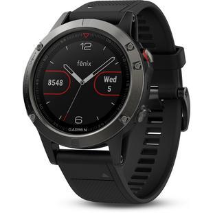 Montre GPS Fenix 5 avec bracelet noir - Ardoise