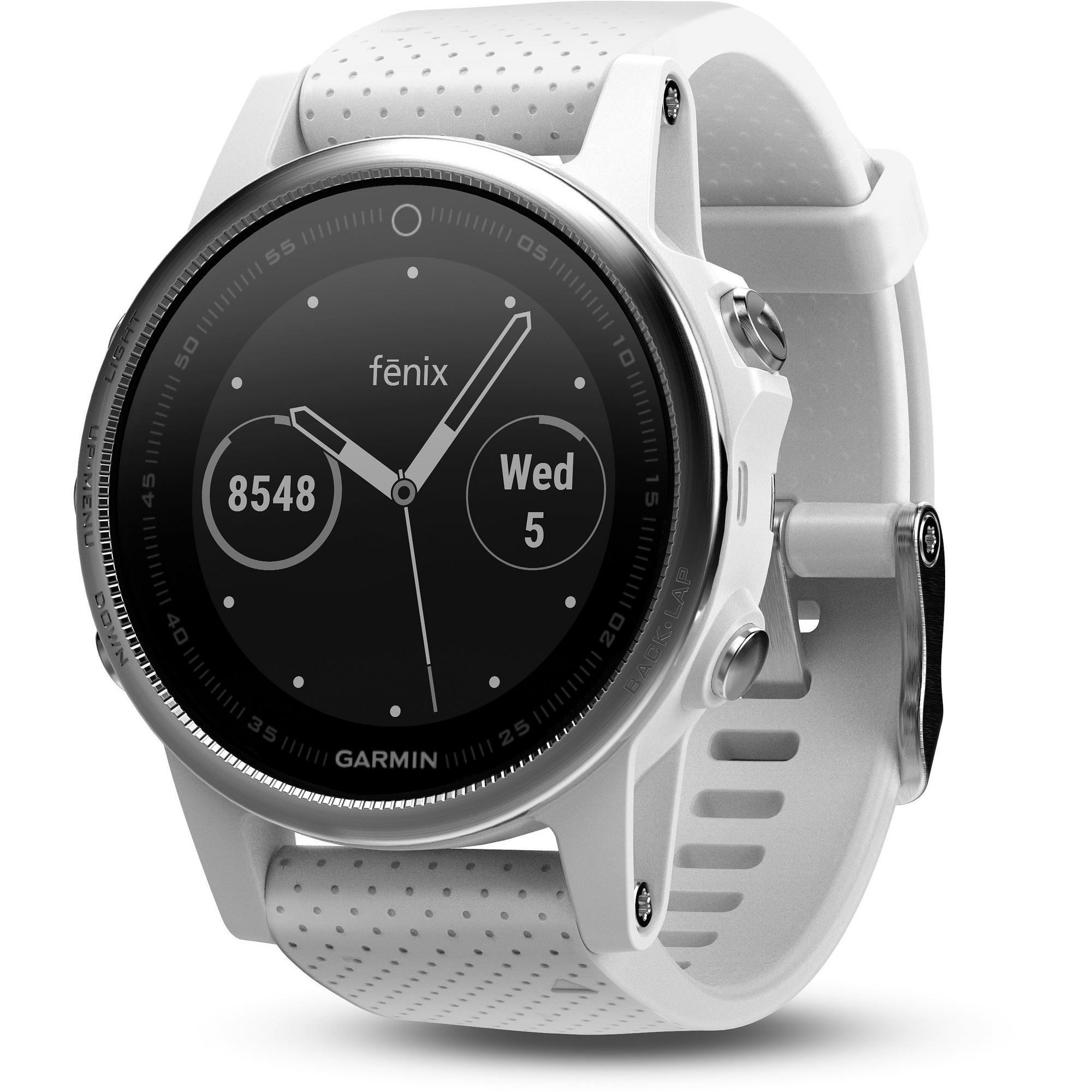 fenix 5S GPS Watch – White/White