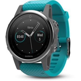 Montre GPS fenix 5S – Argent/Turquoise