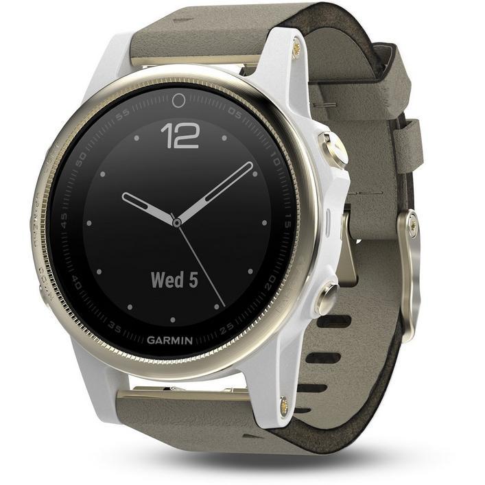 fenix 5S Sapphire GPS Watch – Champagne/Grey