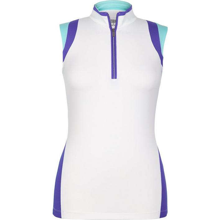 Womens Rori Colourblock Sleeveless Mock