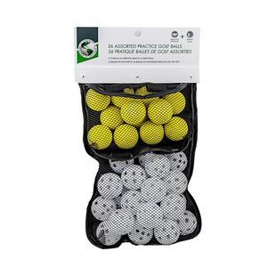 36 Assorted Practice Golf Balls