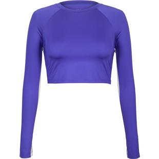 Womens Sasha Crop Top With Mesh Inserts