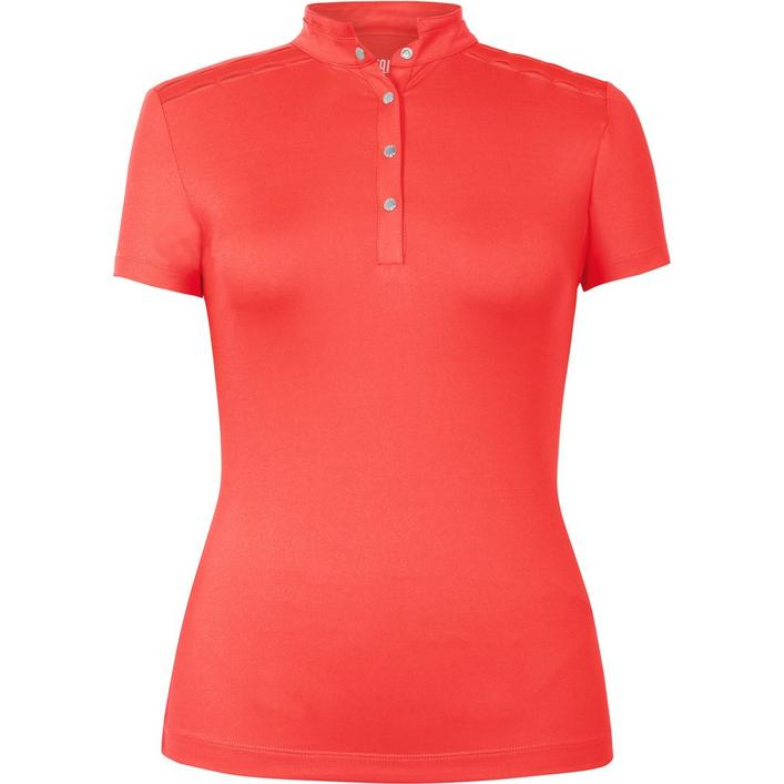 Womens Karen Solid Short Sleeve Top