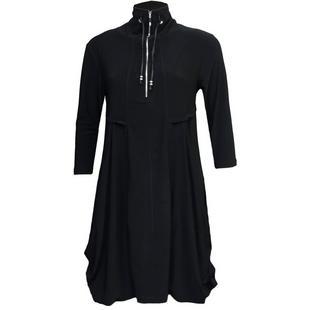 Robe à poche drapée avec manches 3/4 pour femmes