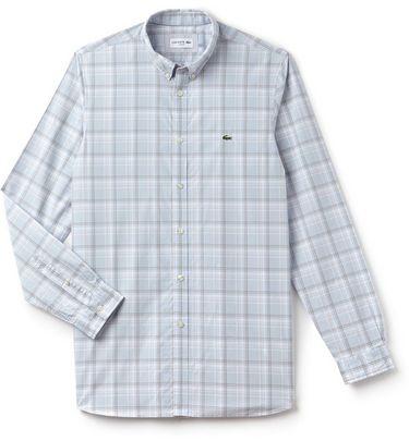 499016ebaa8528 Men s Slim Fit Giant Check Cotton Poplin Long Sleeve Shirt   Golf ...