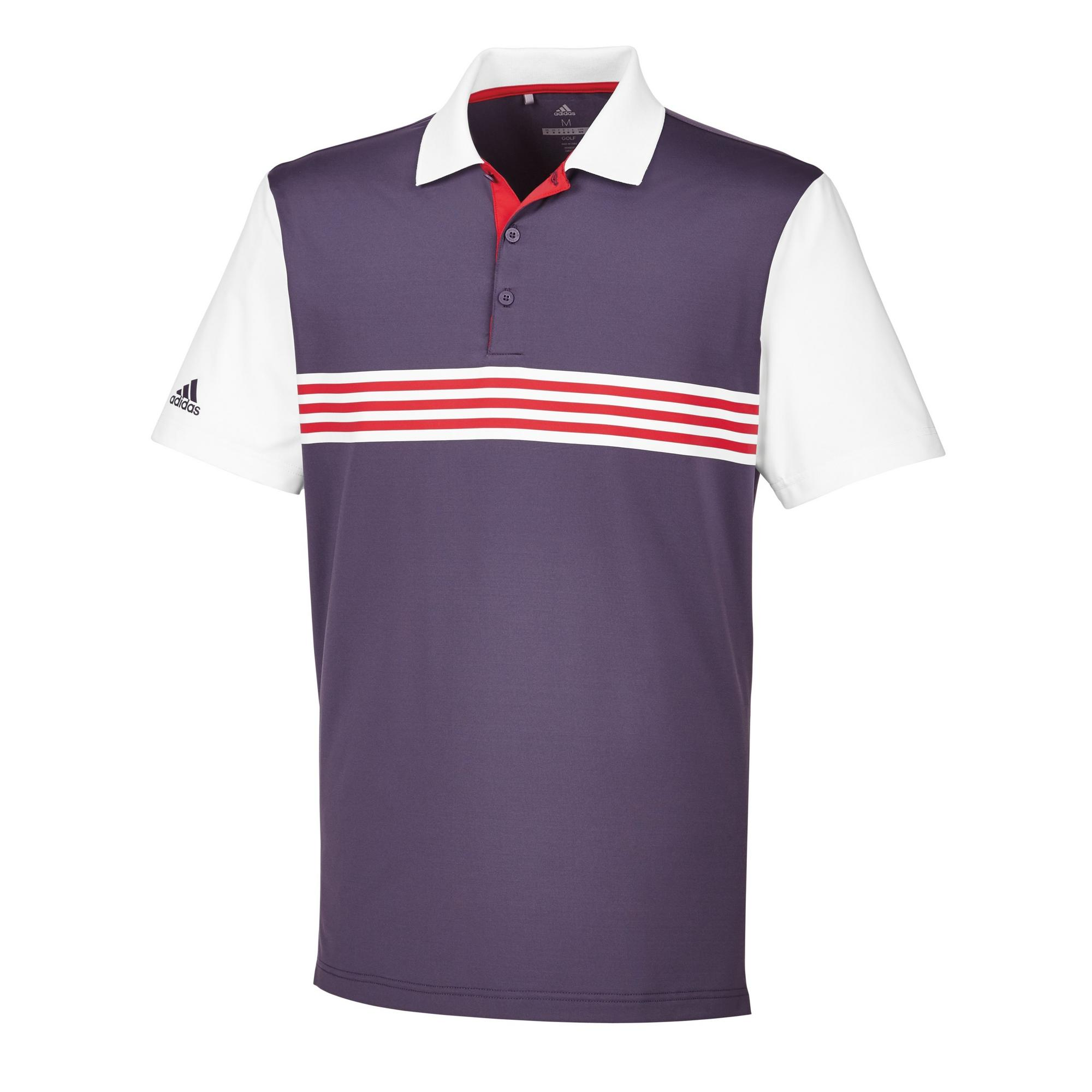 Men's Ultimate Engineered 3 Stripe Short Sleeve Polo