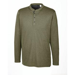 Men's Adicross No Show Range Henley Long Sleeve Polo