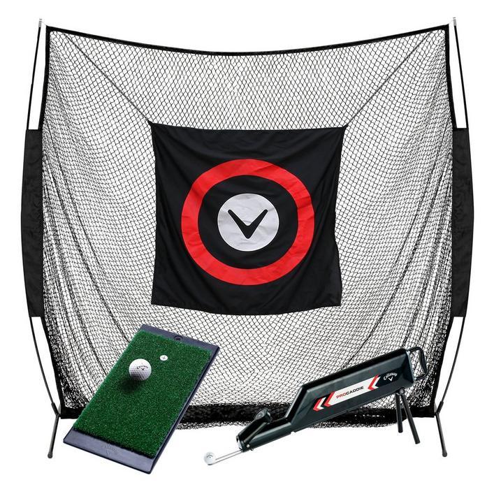Système de pratique maison - filet, tapis et shag bag
