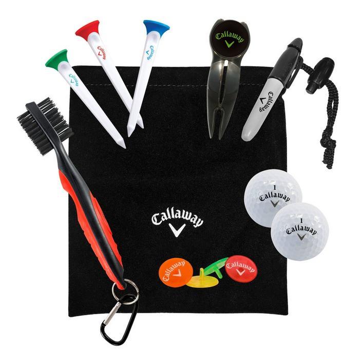 Starter Set - Pouch, Tees, Brush, Divot tool, Ball Markers, Balls