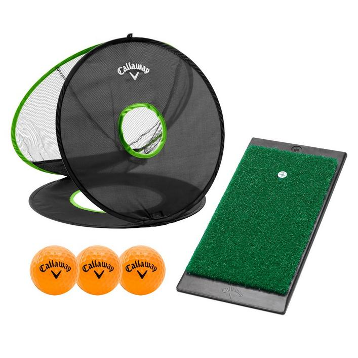 Short Game Set Chipping Net, Launch Mat, 3 HX Balls