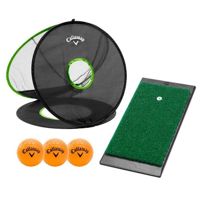 Filet de pratique pour jeu court, tapis de pratique et 3 balles HX