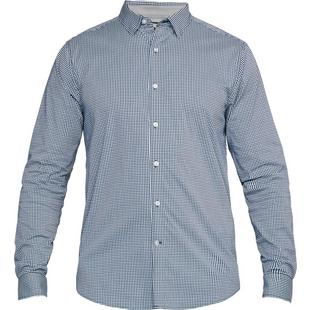 Men's Performance Gingham Woven Long Sleeve Shirt
