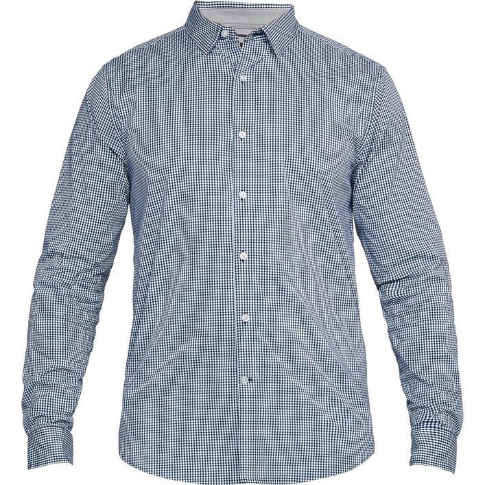 Men's Performance Gingham Woven Long Sleeve Shirt