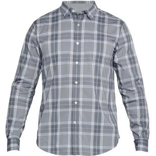 Men's Performance Plaid Woven Long Sleeve Shirt
