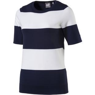 32085ca63f31 Women s Crew Neck Knit Short Sleeve Top. PUMA