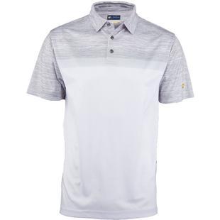 Men's Space Dye Colour Block Short Sleeve Polo
