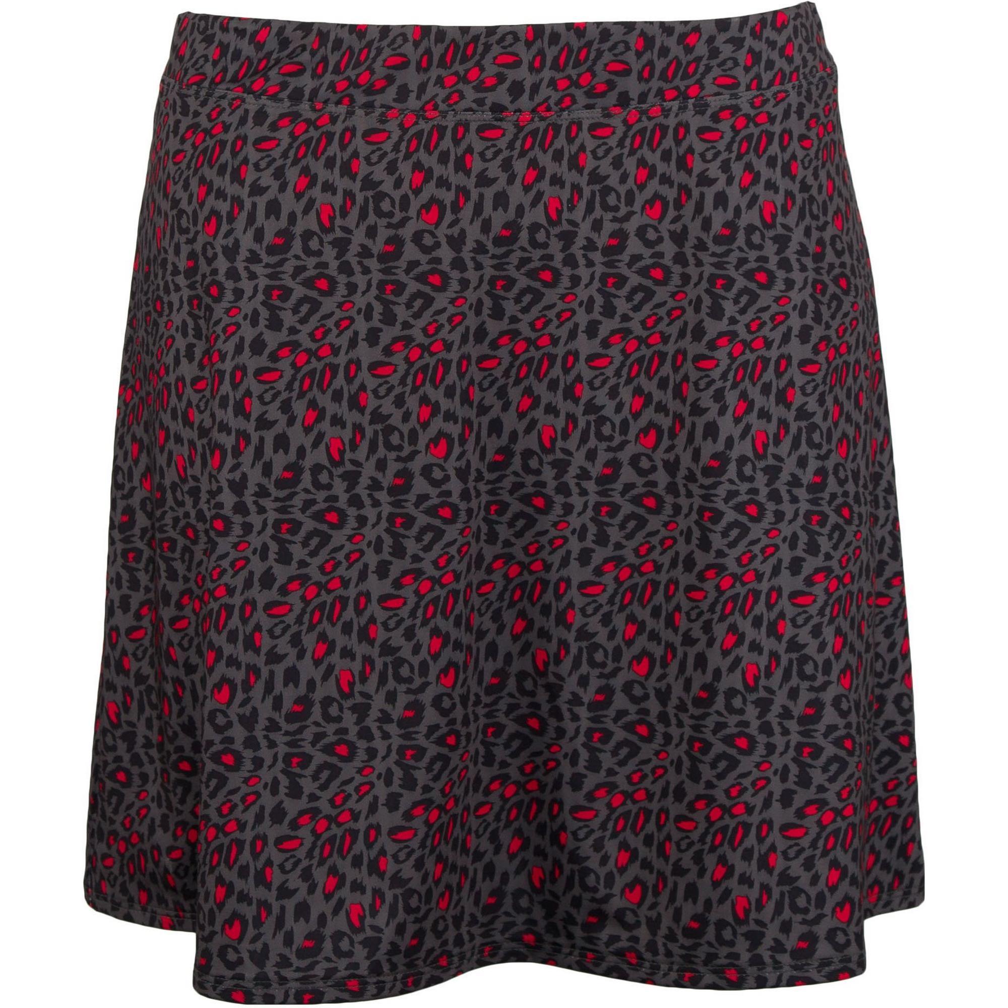 Womens Animal Print Swing Knit Skort