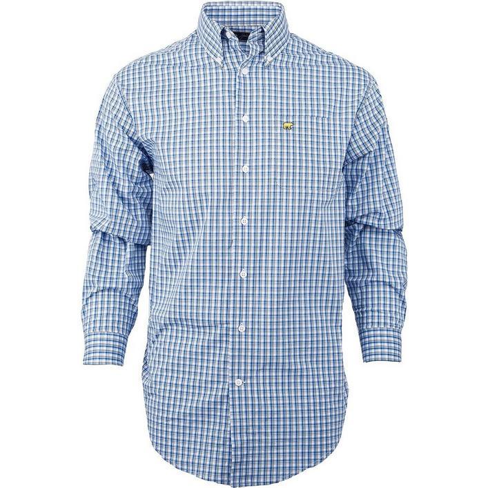 Men's Checkered Plaid Long Sleeve Button-Down Long Sleeve Shirt