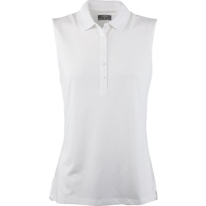 Women's Micro Hex Sleeveless Polo
