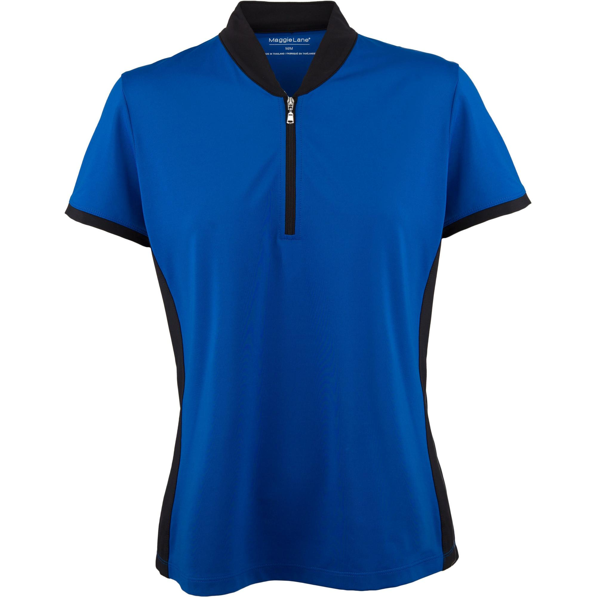 Womens Short Sleeve Solid Shawl Collar Polo