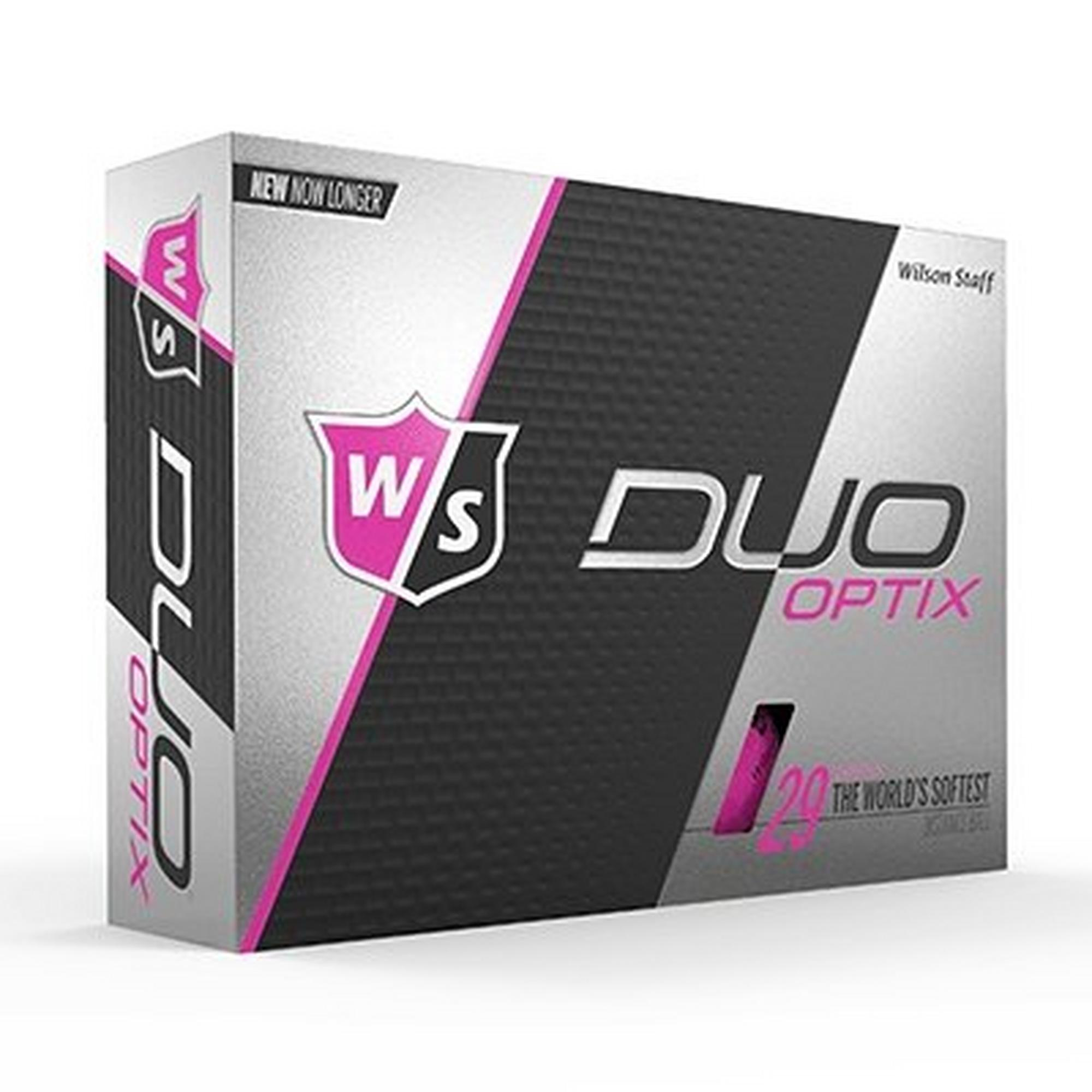 Wilson DUO Optix Golf Balls - Pink