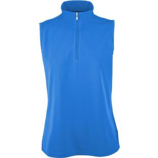 Womens Sleeveless Microdot Polo