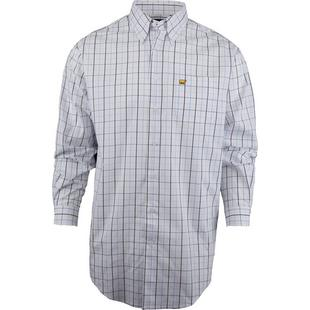 Men's Open Plaid Button-Down Long Sleeve Shirt