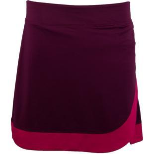Jupe-pantalon unie avec ourlet asymétrique en tricot pour femmes