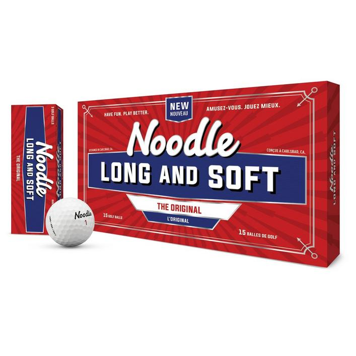 Noodle Long and Soft Golf Balls - 15 Pack