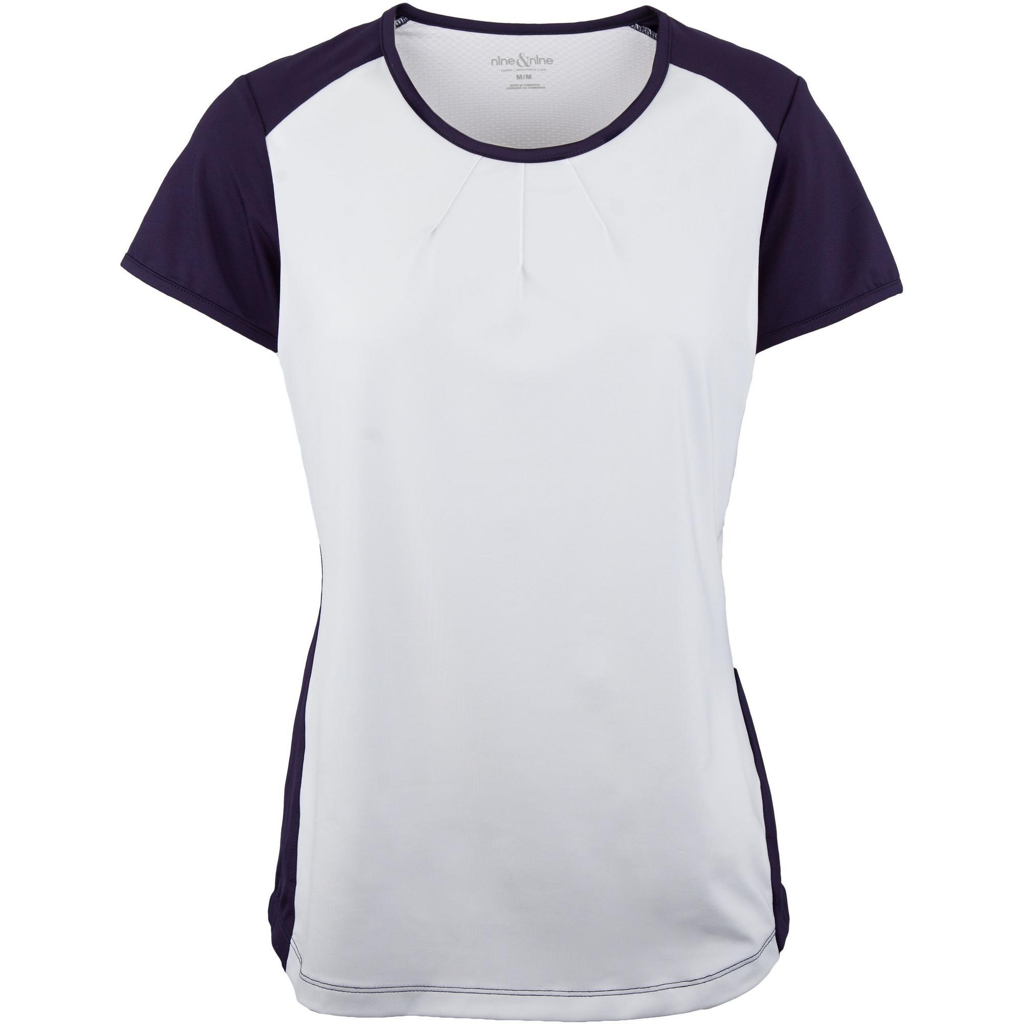Womens Short Sleeve Crew Neck Fitness Top