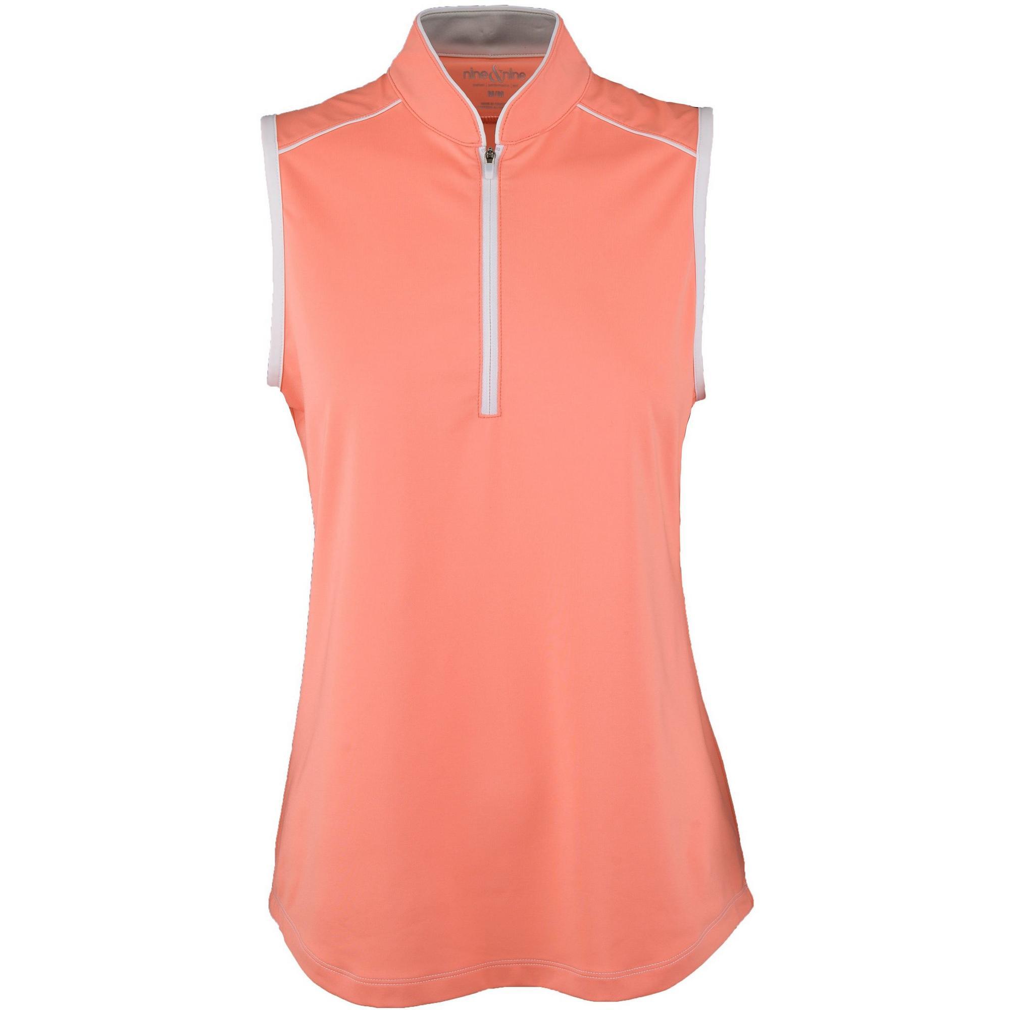 Women's Sleeveless Solid Mock Neck Top