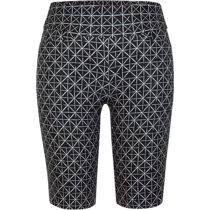 Pantalon court Mulligan à imprimé avec taille élastique pour femmes