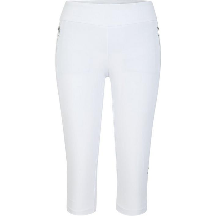 Womens Mitchell 21 Inseam Pull On Mesh Insert Capri