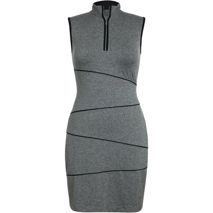 Women's Sleeveless Slate Heather Golf Dress