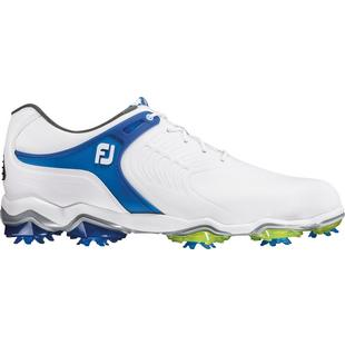 Mens Tour S Spiked Golf Shoe - WHT/BLU