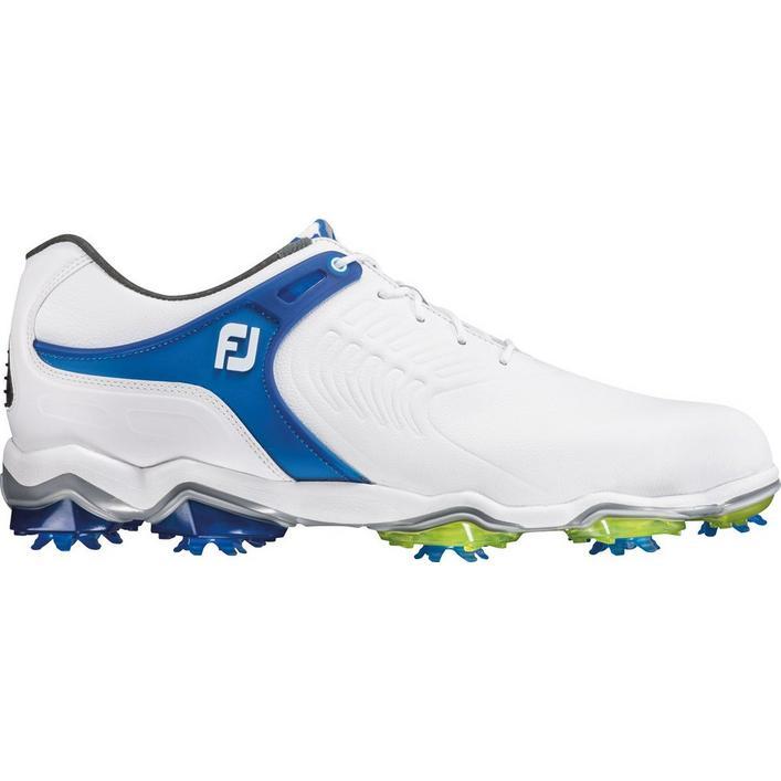 Chaussures Tour-S à crampons pour hommes – Blanc/Bleu