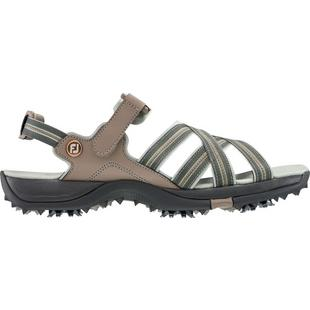 Women's Webbing Spiked Golf Sandal - Tan