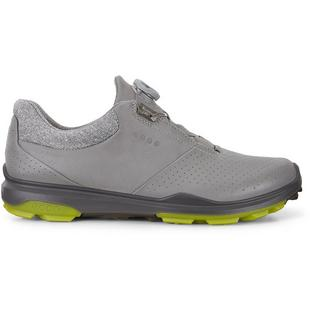 Mens Goretex Biom Hybrid 3 Boa Spikeless Golf Shoe - LTGRY/GRN