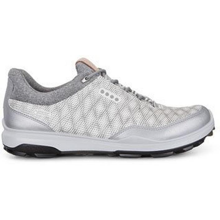 Chaussures Goretex Biom Hybrid 3 Print sans crampons pour hommes – Blanc/Argent