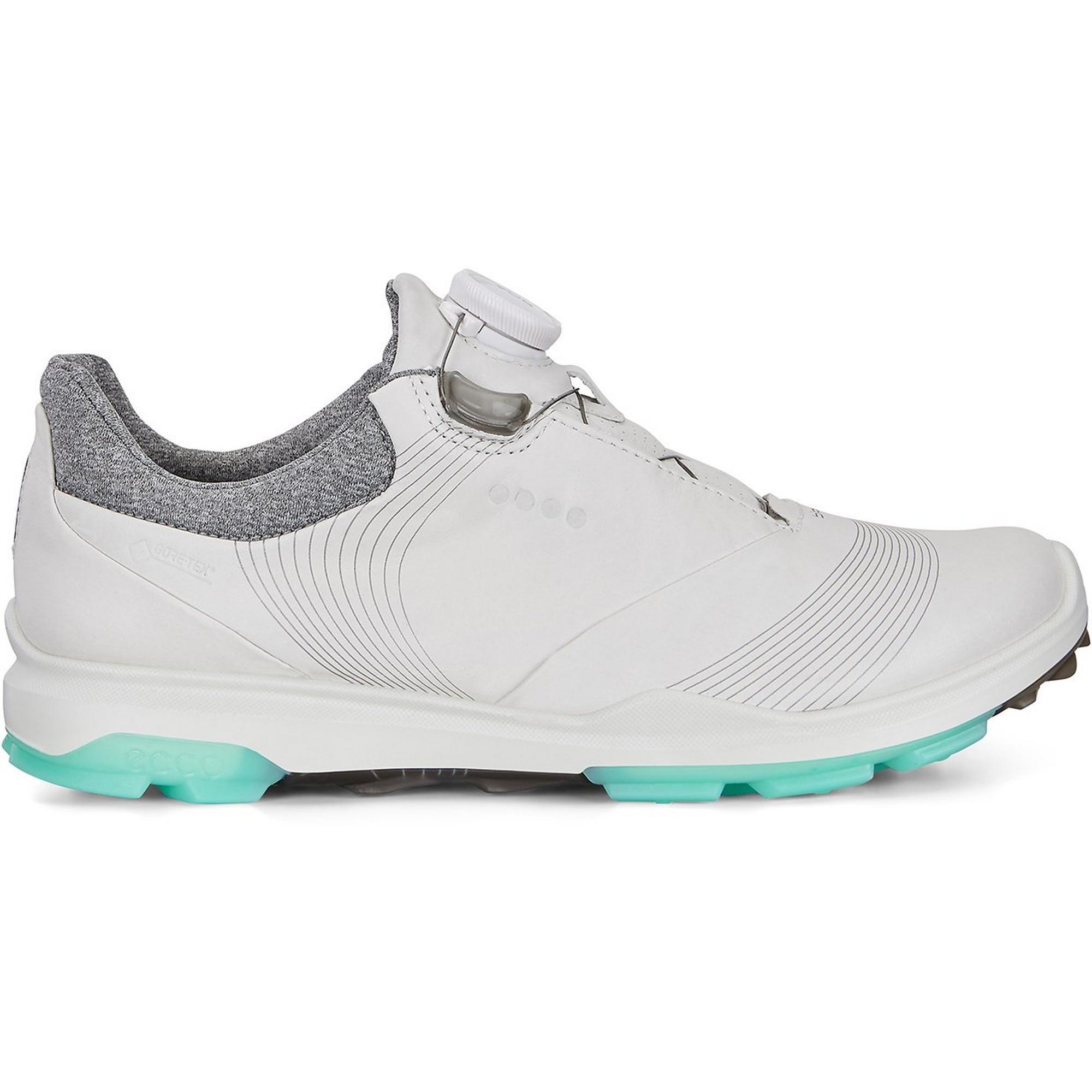 Womens Goretex Biom Hybrid 3 Boa Spikeless Golf Shoe  - WHT/GRN