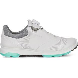 Womens Goretex Biom Hybrid 3 Boa Spikeless Golf Shoe  - WHT/GRN