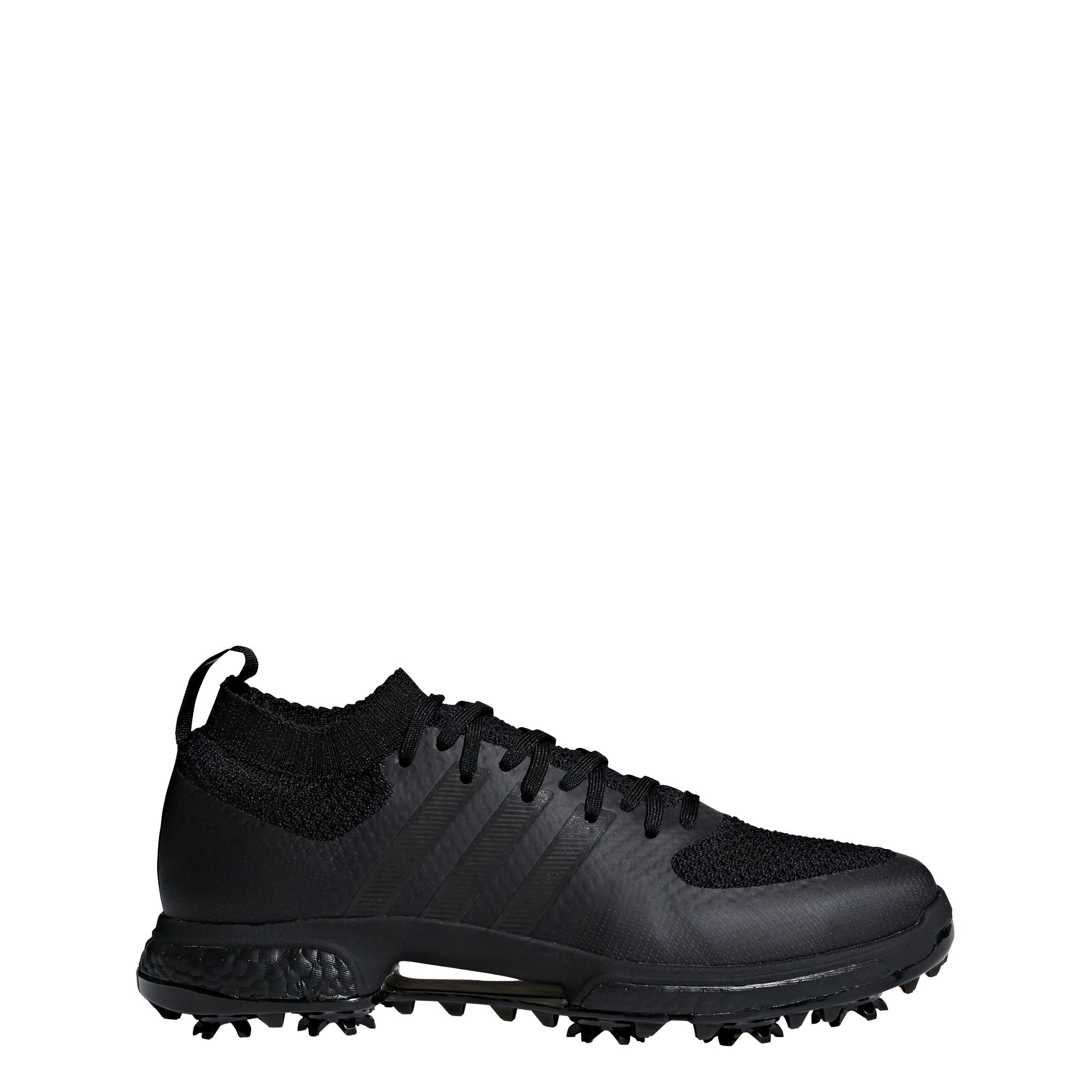 Men's Coloured Tour360 Knit Spiked Golf Shoe - Black