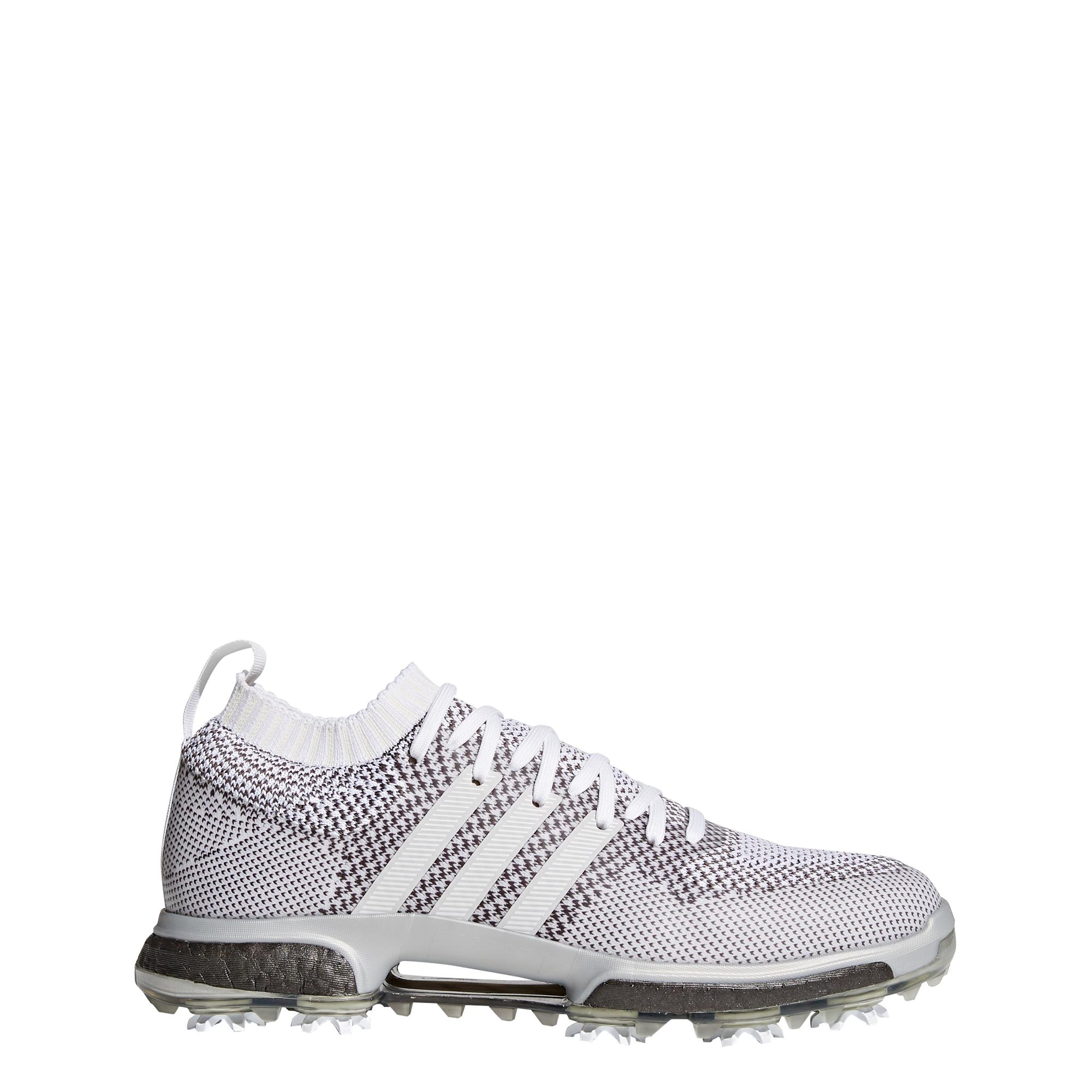 Men's Coloured Tour360 Knit Spiked Golf Shoe - White