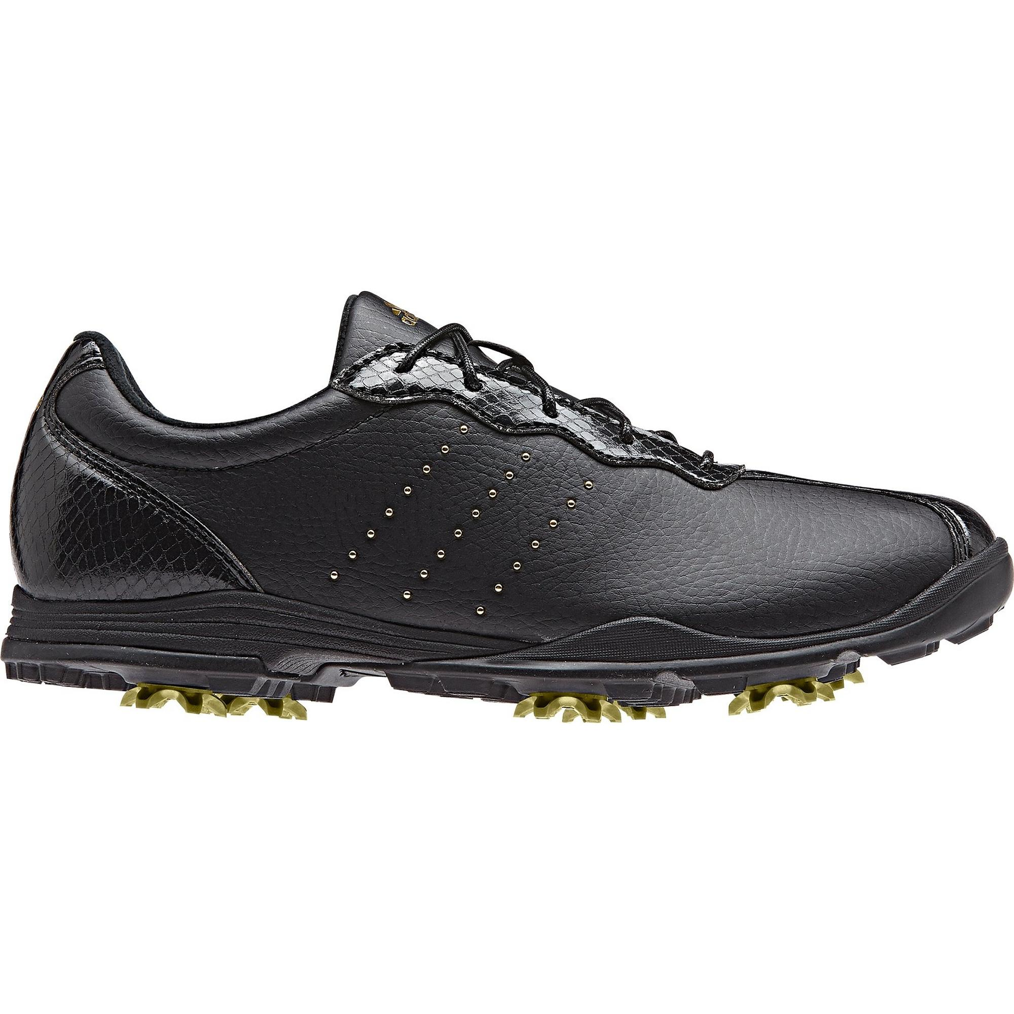Women's Adipure Tour Spiked Golf Shoe - BLK/GLD