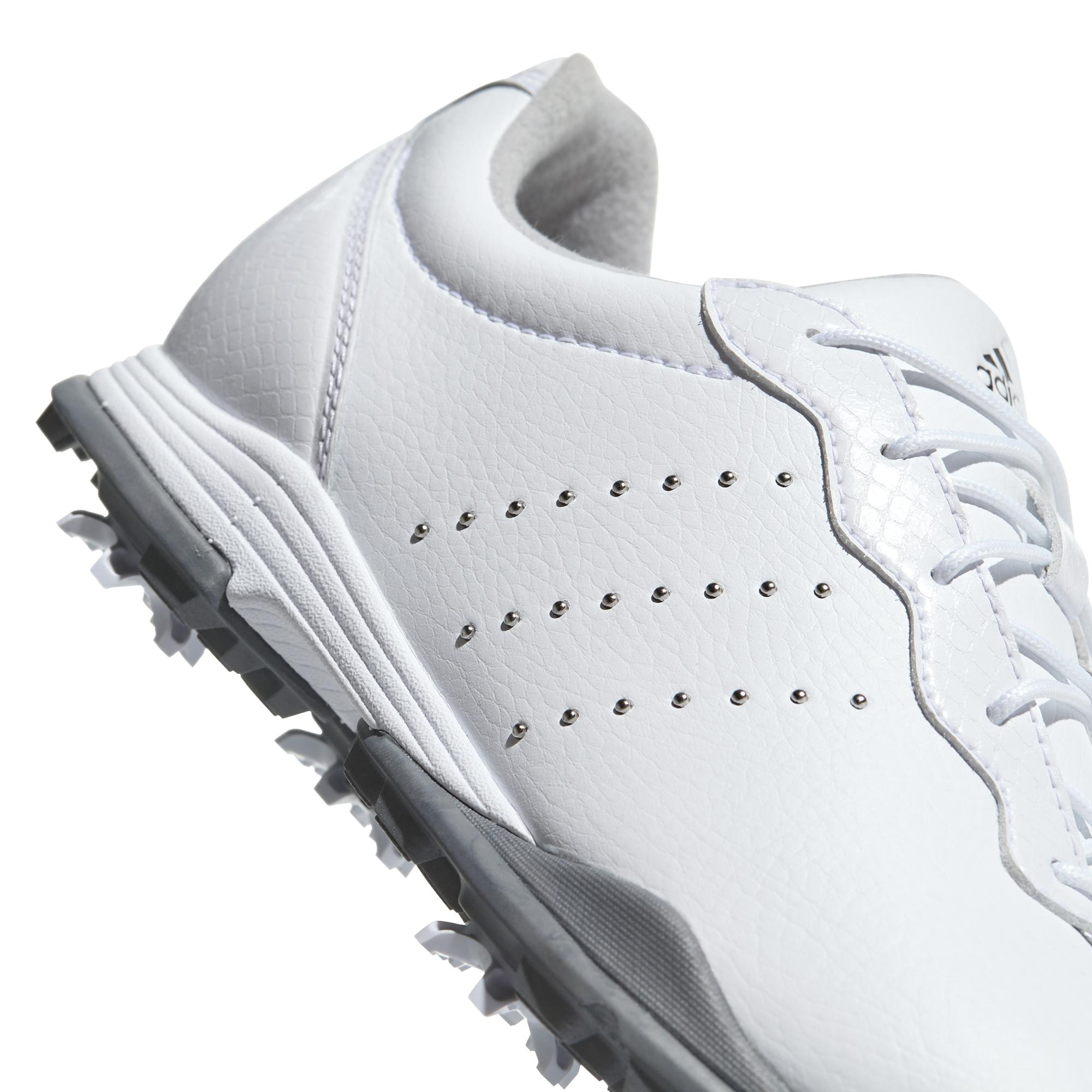 Women's Adipure Tour Spiked Golf Shoe - WHT/SIL