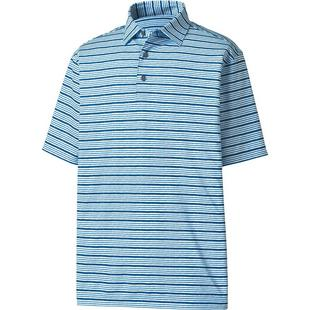 Men's Lisle Space Dye Stripe Short Sleeve Polo