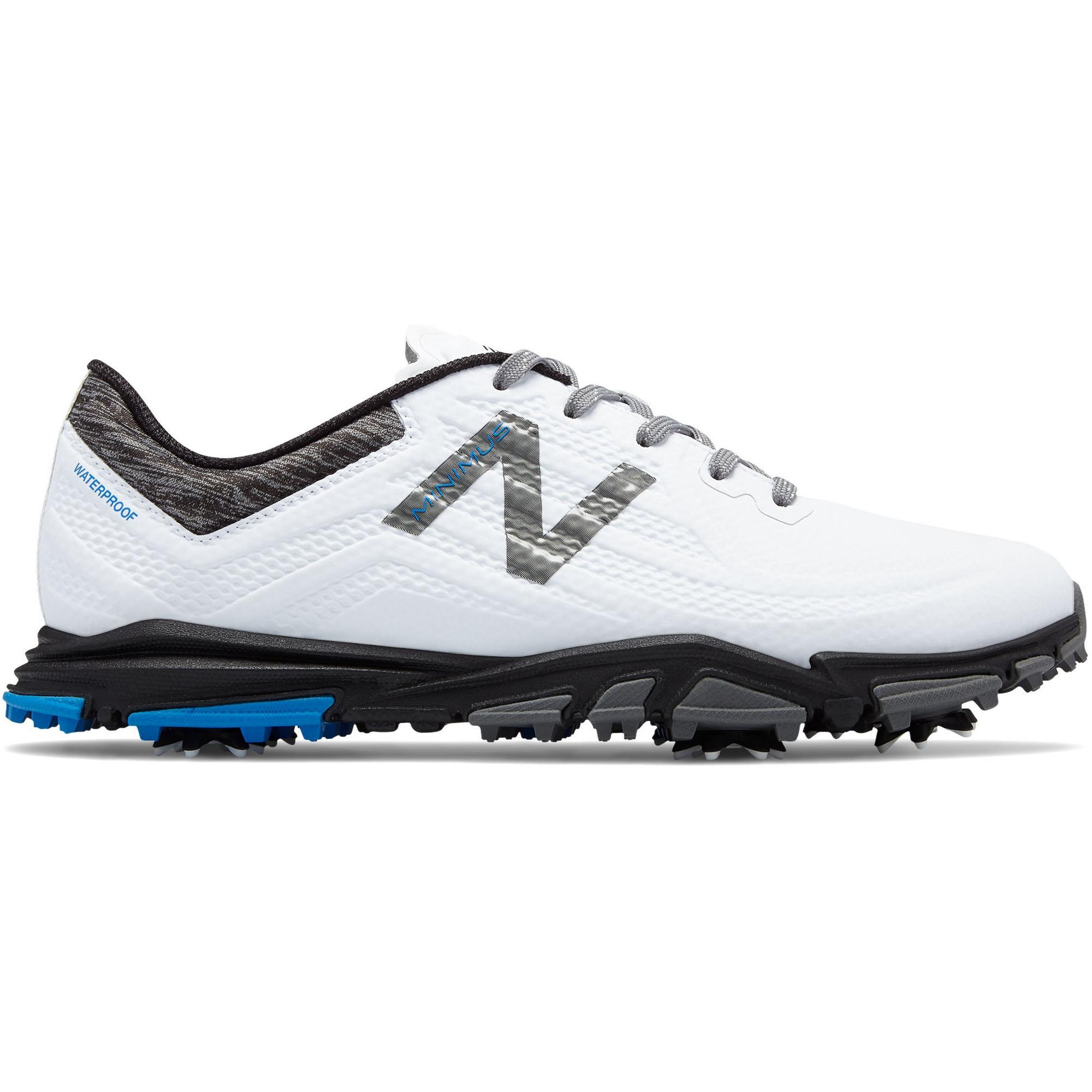 Men's Minimus Tour Spiked Golf Shoe - White/Black