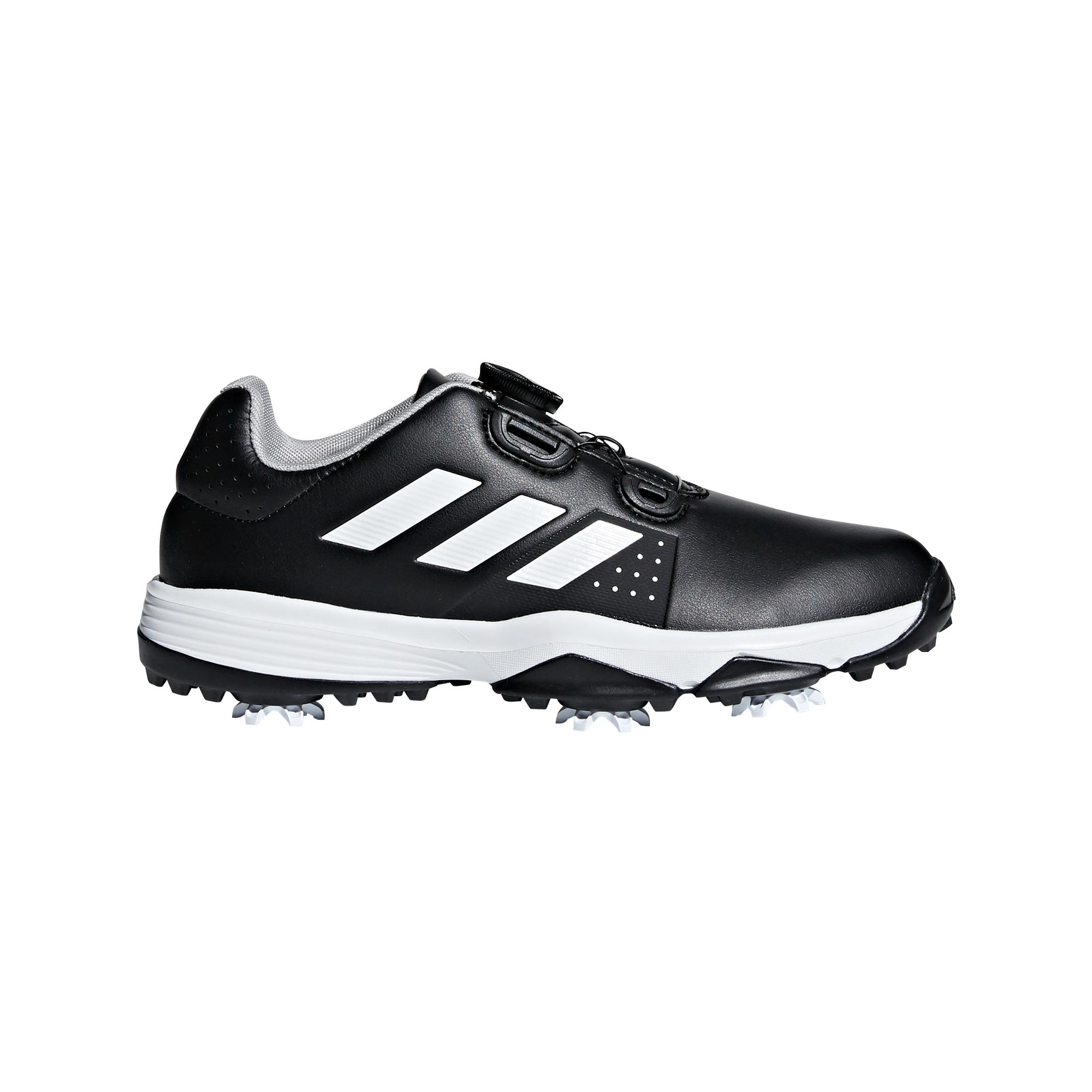 Junior Adipower BOA  Spiked Golf Shoe - Black/White