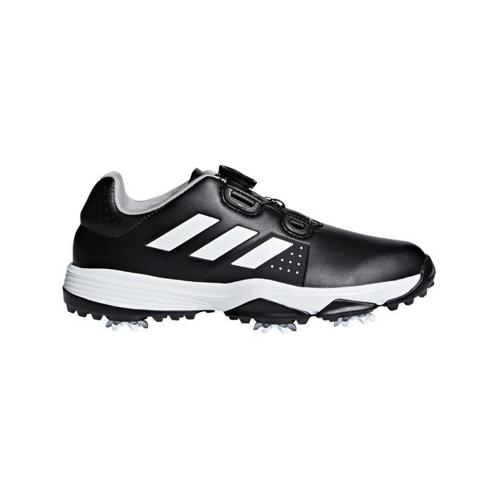 Junior Adipower BOA  Spiked Golf Shoe - Black/White